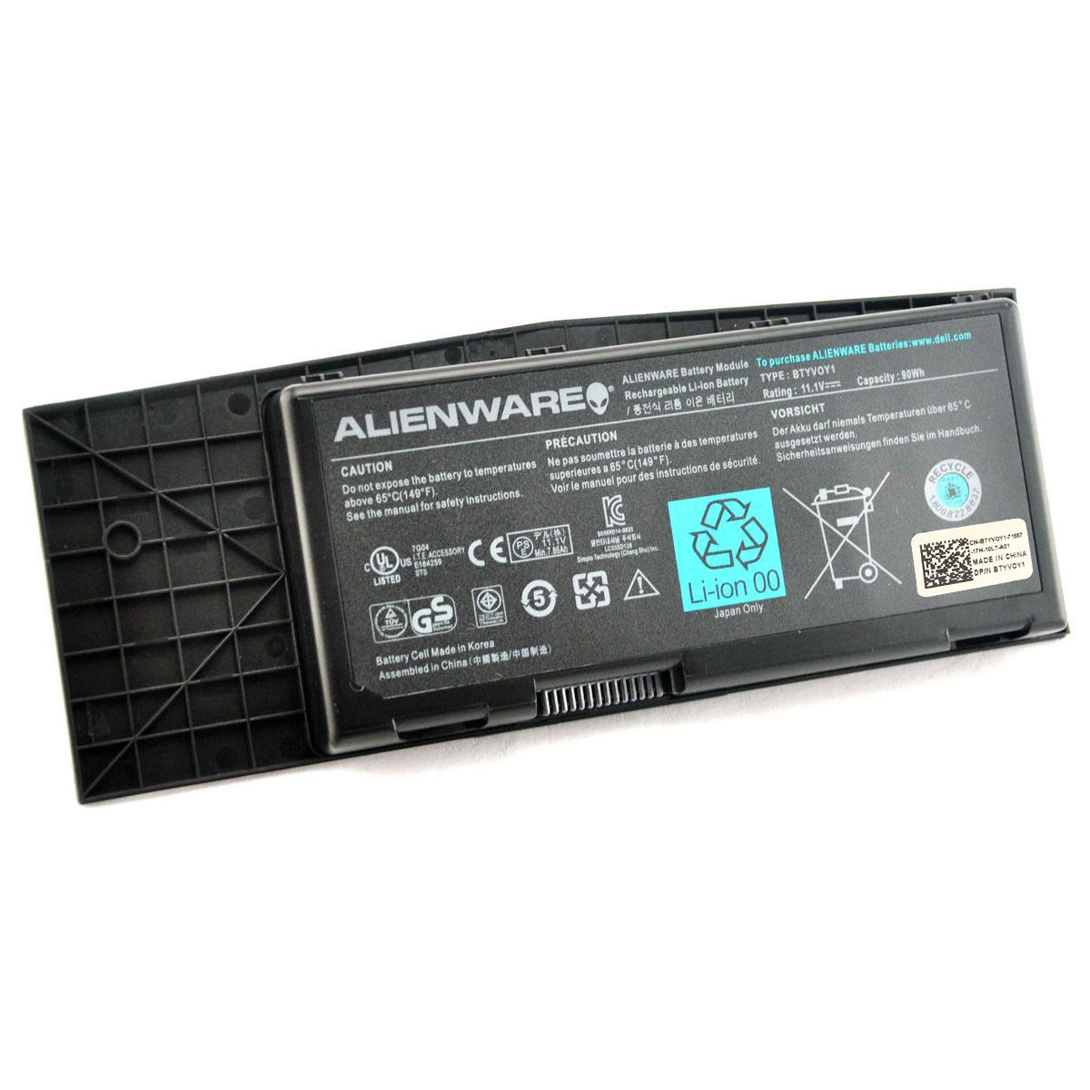 Repl  For DELL LAPTOP BATTERY ALIENWARE M17X R3, R4, BTYVOY1, C0C5M, 7XC9N,  05WP5W, 11 1V 7860mAh, 90Wh